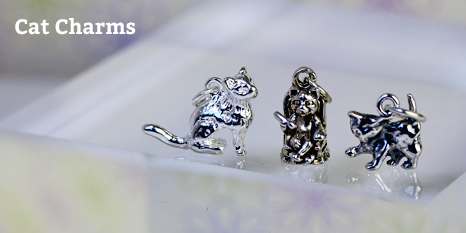 sterling silver cat charms