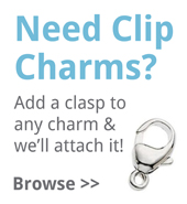 Silver clip charms from TheCharmWorks.com