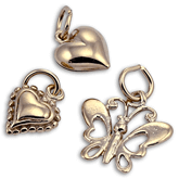 Sterling Silver and 14K Vermeil Gold Charms