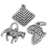Sterling Silver Africa Charms