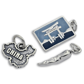 Sterling Silver Asia Charms