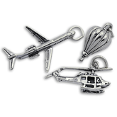 Sterling Silver Aviation Charms