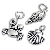 Sterling Silver Beach and Shell Charms