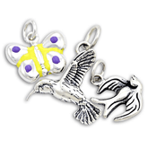 Sterling Silver Bird & Butterfly Charms