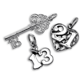 Sterling Silver Birthday Charms
