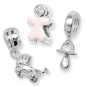 Sterling Silver Babies and Children Bead Charms
