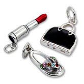 Fashion Accessories Charms in Silver