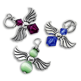Sterling Silver Crystal Angel Charms