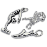 Sterling Silver Dance, Ballet and Gymnastics Charms