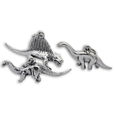 Sterling Silver Dinosaur Charms