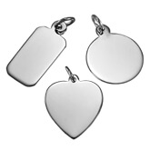 Engravable Charms & Pendants