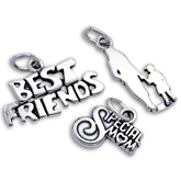 Sterling Silver Family and Friends Charms