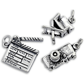 Silver Film & Photography Charms