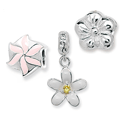 Flowers & Nature Silver Bead Charms