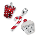 Food & Drink Silver Bead Charms