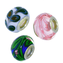Sterling Silver Glass Bead Charms
