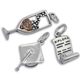 Sterling Silver Graduation Charms