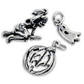Sterling Silver Halloween Charms