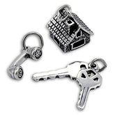 Sterling Silver Home Charms
