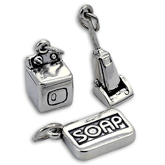 Sterling Silver Housework Charms
