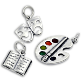 Reading, Drama & Art Charms in Silver