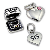 Sterling Silver Love and Heart Charms