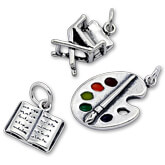 Sterling Silver Media and Arts Charms