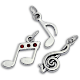Sterling Silver Music and Note Charms