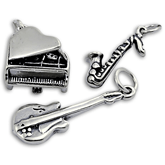 Silver Musical Instrument Charms