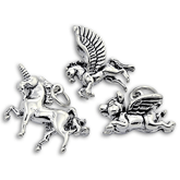 Sterling Silver Mythical and Fairytale Charms