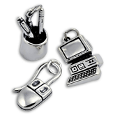 Sterling Silver Office Charms
