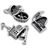 Sterling Silver Opening and Moving Charms
