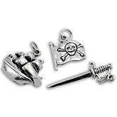 Sterling Silver Pirate Charms