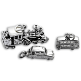 Sterling Silver Public Transport Charms