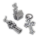 Silver Religious & Cross Charms