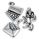 Sterling Silver Romance and Valentine Charms