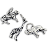 Sterling Silver Safari and Zoo Charms
