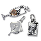 Sterling Silver School and Graduation Charms