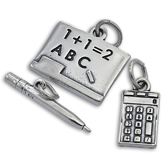 Sterling Silver School Charms