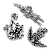 Sterling Silver Scottish Charms