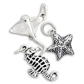 Sterling Silver Sealife Charms