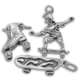 Sterling Silver Skating Charms
