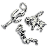 Sterling Silver South America and Mexico Charms
