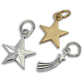 Sterling Silver Star & Moon Charms