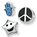 Sterling Silver Symbol Bead Charms