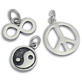 Sterling Silver Symbol Charms
