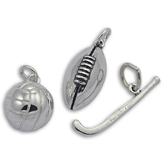 Sterling Silver Team Sport Charms