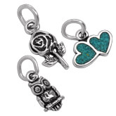 Tiny Sterling Silver Charms - Great Designs - Tiny Prices