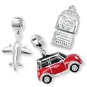 Sterling Silver Travel Bead Charms
