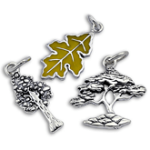Tree & Leaf Charms | Sterling Silver
